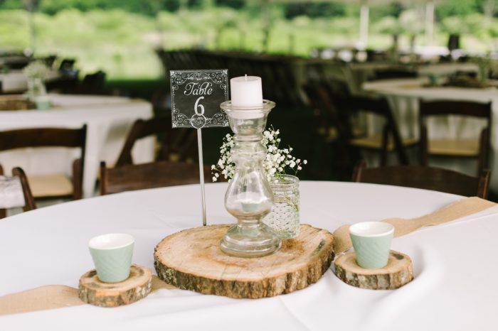 Babys Breath Centerpiece | Pure Water Farm Wedding Tennessee | JoPhoto | Via MountainsideBride.com