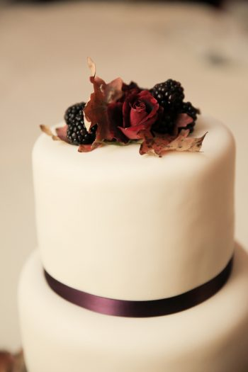 Blackberry And Rose Cake Topper Park City Wedding | Pepper Nix Photography | Via MountainsideBride.com