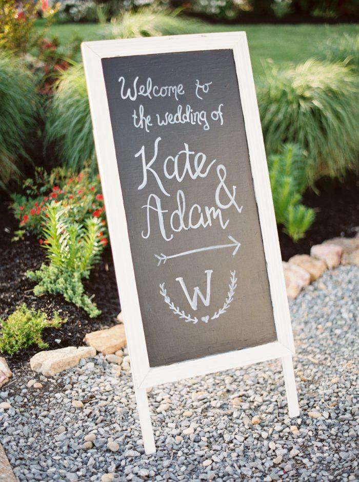 Chalkboard Wedding Sign | Pleasant Hill Vineyards |JoPhotos | Via MountainsideBride.com