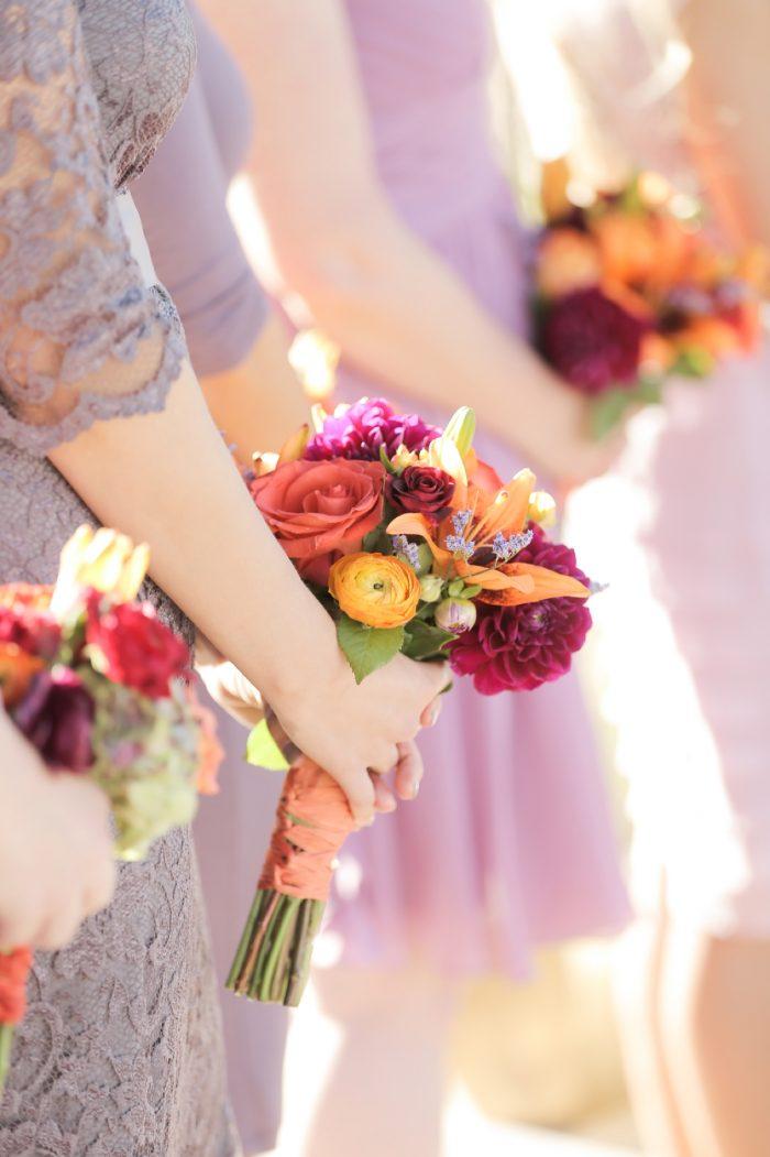 Fall Bridesmaids Bouquets Park City Wedding | Pepper Nix Photography | Via MountainsideBride.com