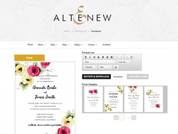 0b Altenew Diy Wedding Invitation Kit