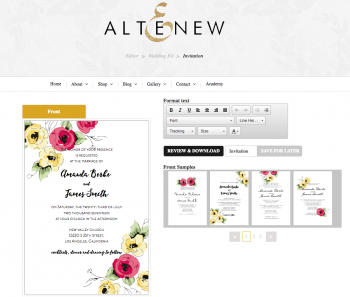 0c Altenew Diy Wedding Invitation Kit