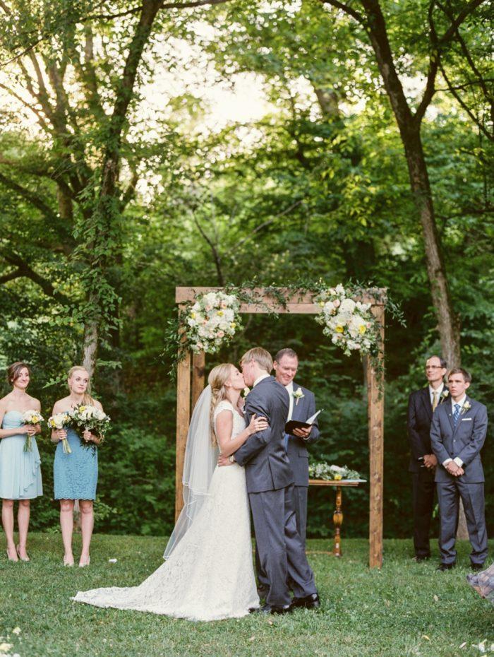 21 Ceremony Daras Garden Tennessee Wedding Jophoto Via Mountainsidebride Com