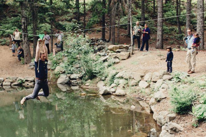 38 Zip Line Lake Kachess Wedding Tyler Ray Photography Via Mountainsidebride Com