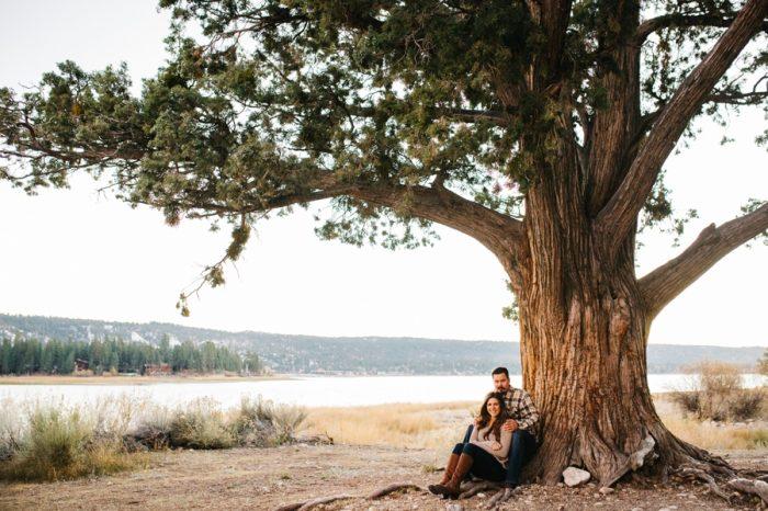 9 Big Bear Fall Engagement Brittney Hannon Photography.