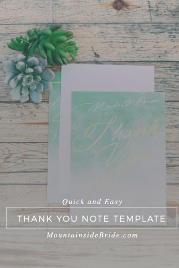 Quick Easy Thank You Note Template Title