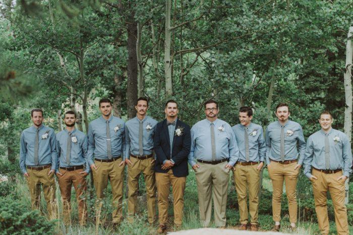 Groomsmen Manitou Springs Colorado Wedding Becca Bloodsworth Via Mountainsidebride Com
