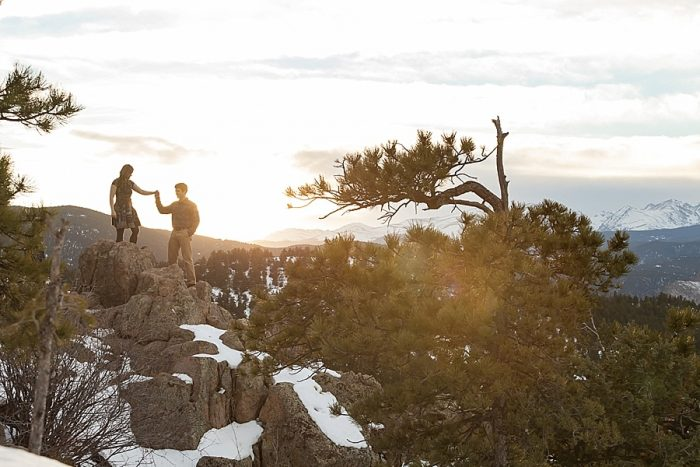 15 Boulder Colorado Winter Engagement Bergreen Photography Via Mountainsidebride Com