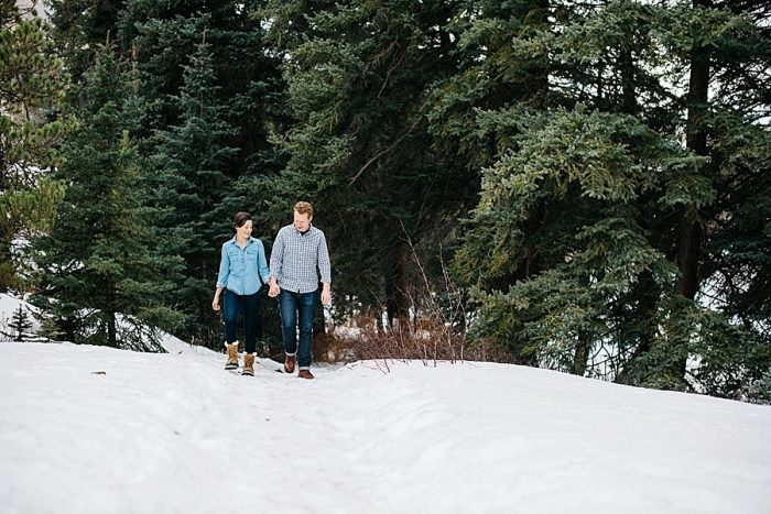 16 Vail Winter Engagement | Searching For The Light | Via MountainsideBride.com