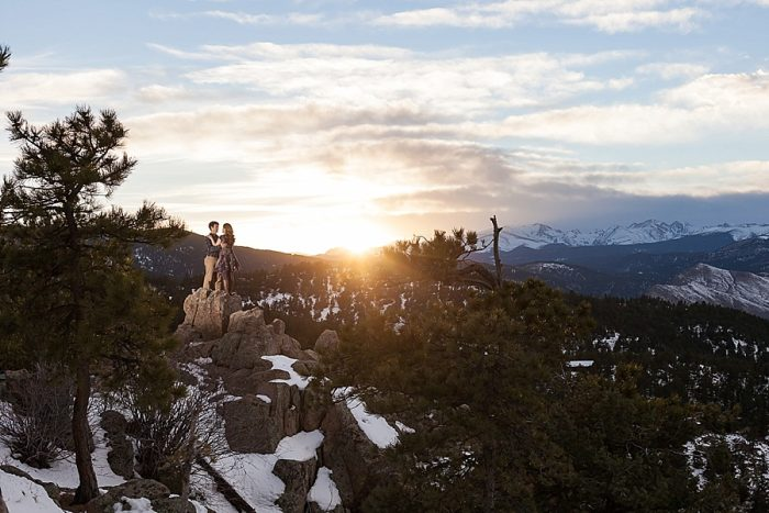 17 Boulder Colorado Winter Engagement Bergreen Photography Via Mountainsidebride Com