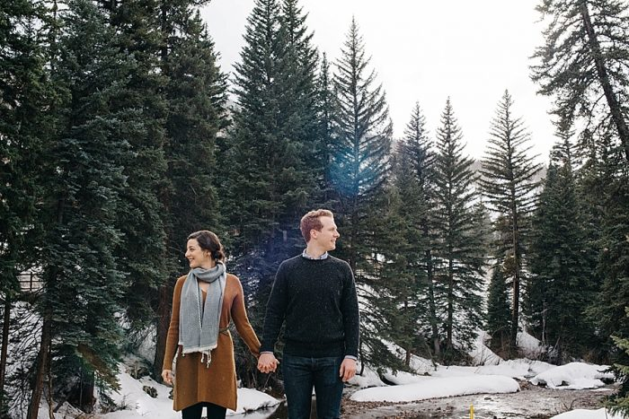 2 Vail Winter Engagement | Searching For The Light | Via MountainsideBride.com