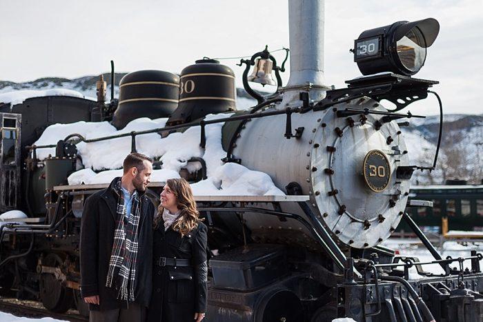 1 Train Engagement | Bergreen Photography | Via MountainsideBride.com