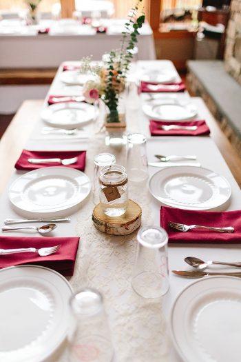 20 Tablescape | Vermont Fall Wedding | Lex Nelson Photography | Via MountainsideBride.com