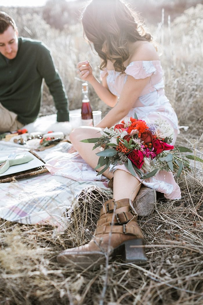 27 Valentines Engagement Loveland CO | Sarah Porter Photography | Via MountainsideBride.com