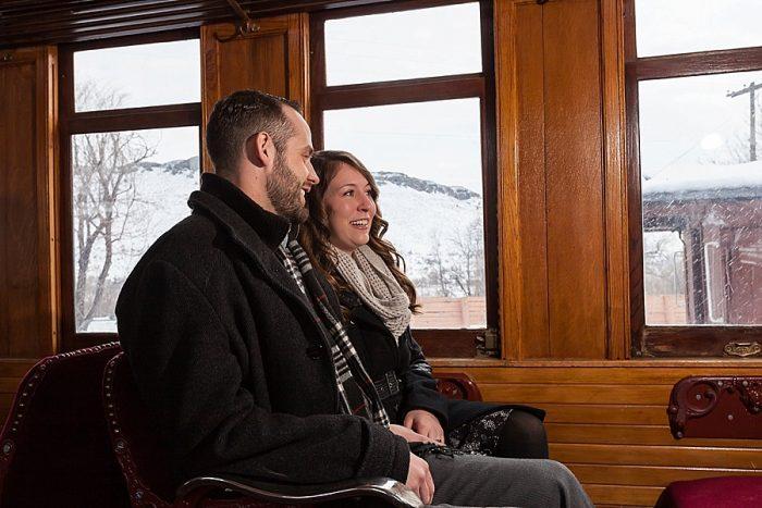3 Train Engagement | Bergreen Photography | Via MountainsideBride.com