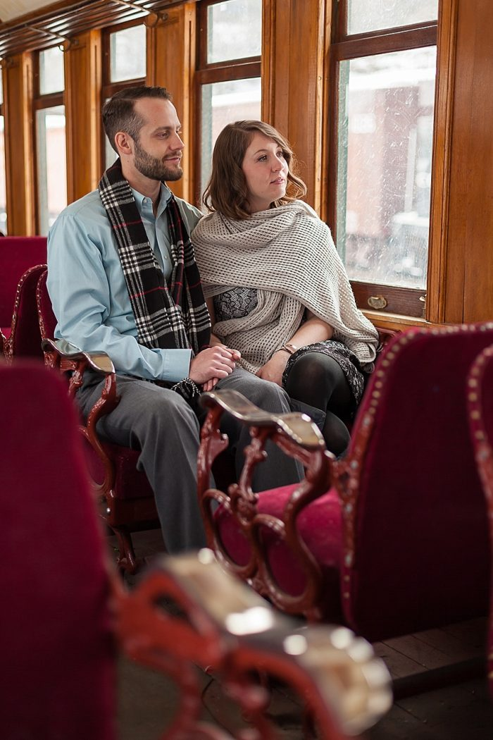 4 Train Engagement | Bergreen Photography | Via MountainsideBride.com
