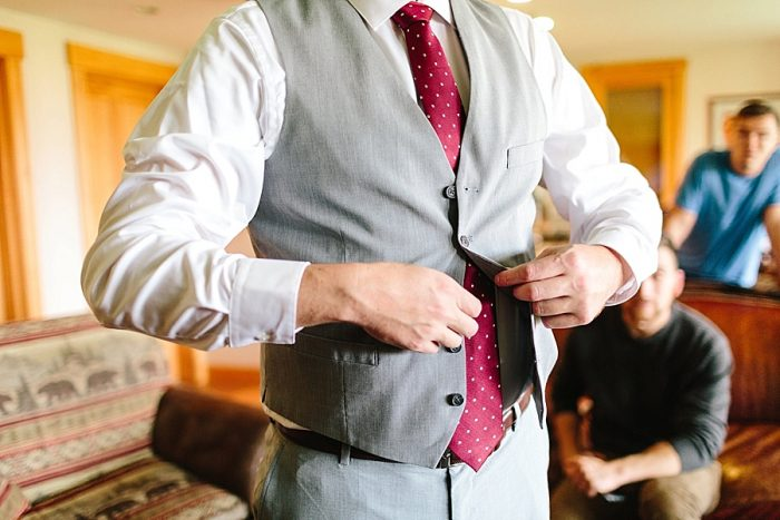 5 Groom Getting Ready | Vermont Fall Wedding | Lex Nelson Photography | Via MountainsideBride.com