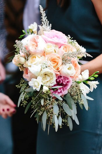 7 Bridesmaid Bouquet | Vermont Fall Wedding | Lex Nelson Photography | Via MountainsideBride.com