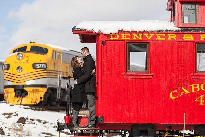 7 Train Engagement | Bergreen Photography | Via MountainsideBride.com