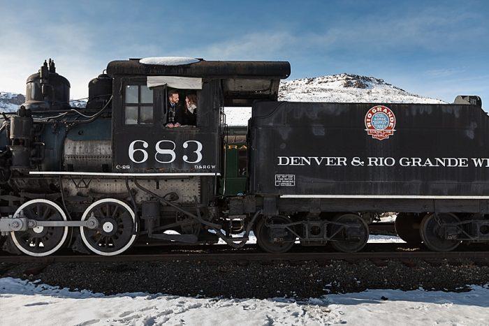 9 Train Engagement | Bergreen Photography | Via MountainsideBride.com