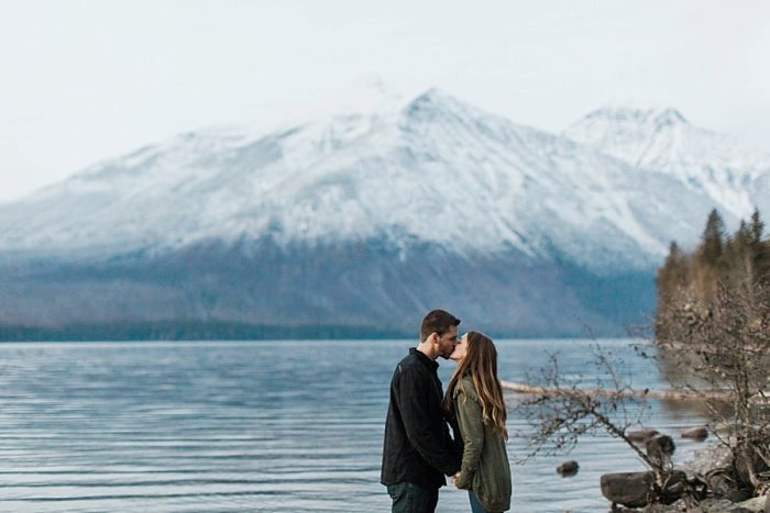 10 Glacier National Park Engagement | Joni Bilderback Photography | Via MountainsideBride.com
