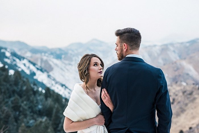 15 LookOut Mountain Colorado Bridal Shoot | Kyle Loves Tori Photography | Via MountainsideBride.com