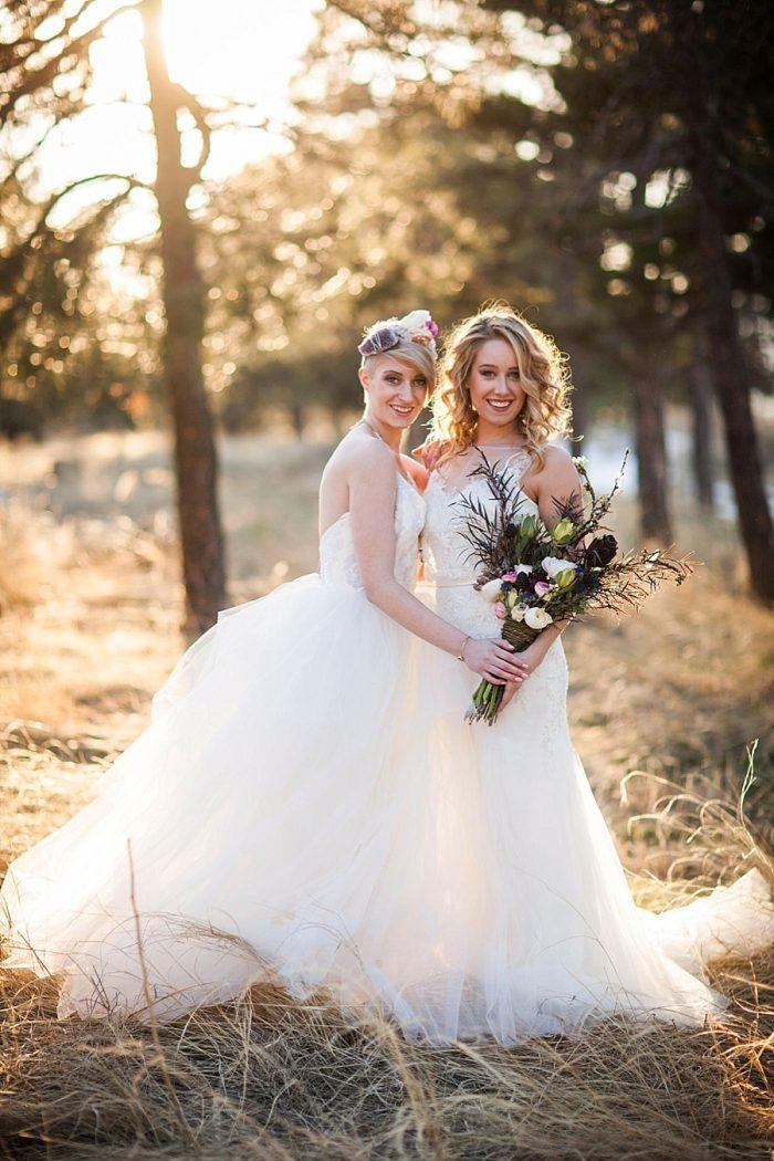 17 Colorado Same Sex Boho Wedding Inspiration   Katie Keighin Photography  via MountainsideBride.com