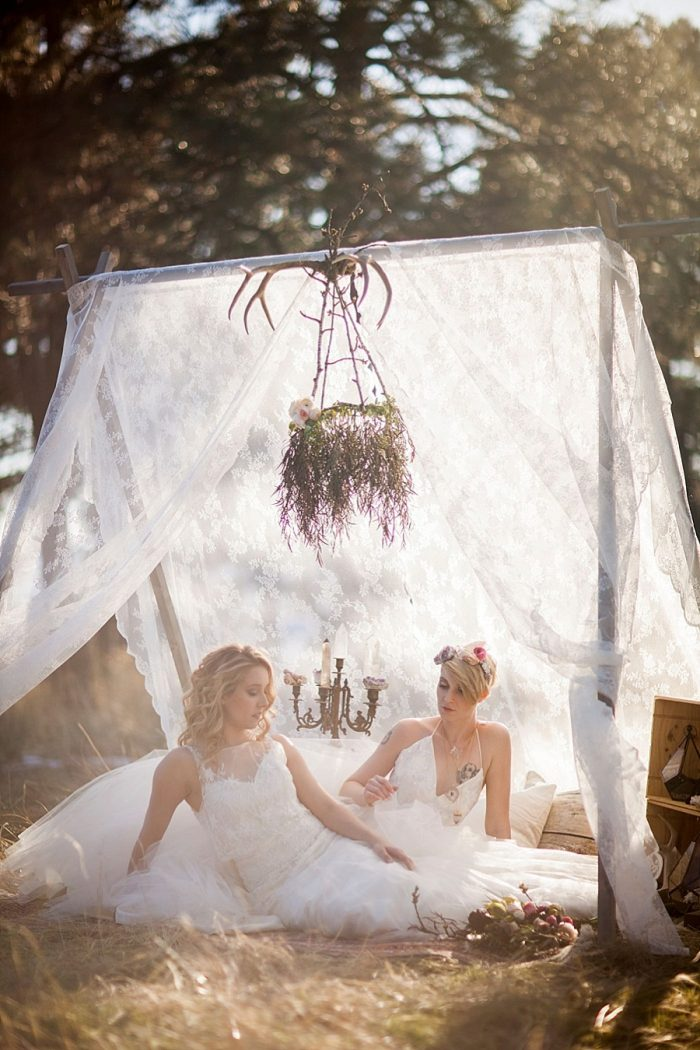 20 Colorado Same Sex Boho Wedding Inspiration | Katie Keighin Photography |via MountainsideBride.com