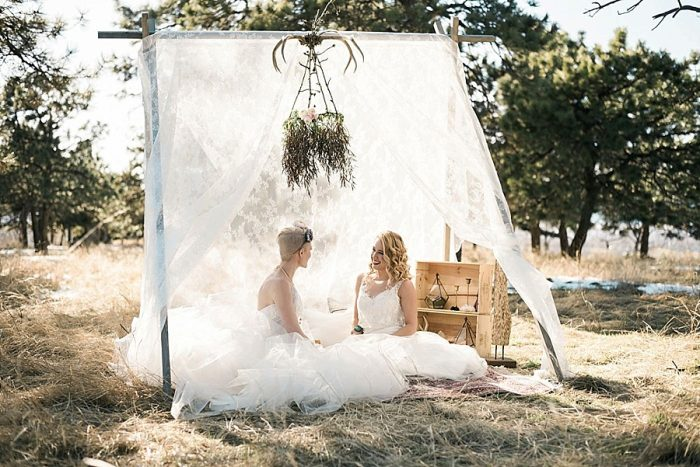 31 Colorado Same Sex Boho Wedding Inspiration | Katie Keighin Photography |via MountainsideBride.com