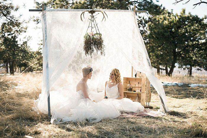 31 Colorado Same Sex Boho Wedding Inspiration | Katie Keighin Photography |via MountainsideBride.com