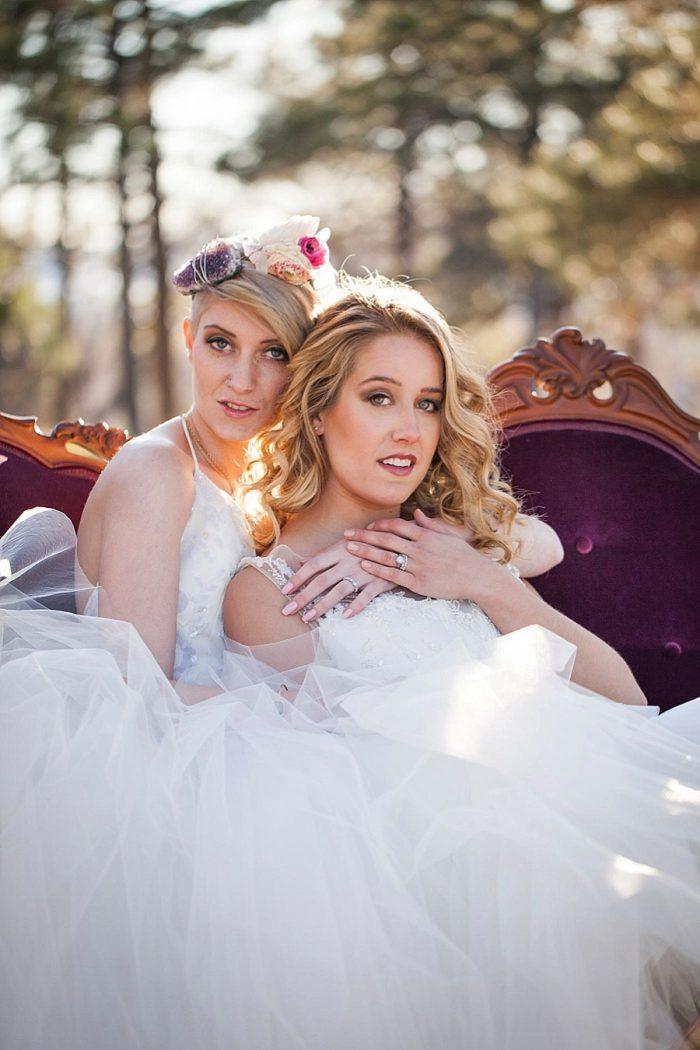 32 Colorado Same Sex Boho Wedding Inspiration   Katie Keighin Photography  via MountainsideBride.com