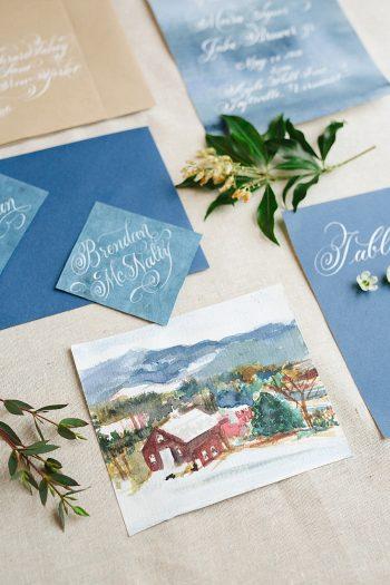 5 Vermont Winter Wedding Inspiration   Amy Donohue Photography   Via MountainsideBride.com