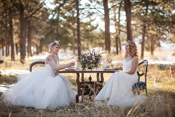 9 Colorado Same Sex Boho Wedding Inspiration | Katie Keighin Photography |via MountainsideBride.com