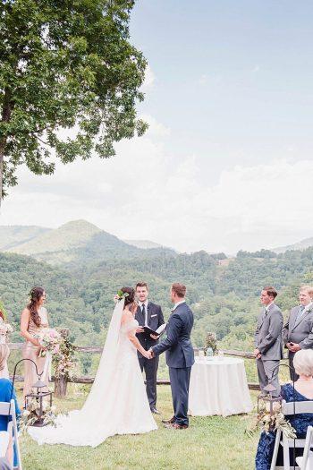 16 Ceremony 1 Sunshower Photography Via MountainsideBride.com