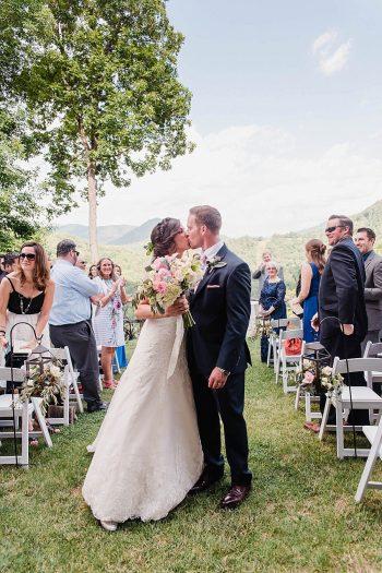 19 Recessional 1 Sunshower Photography Via MountainsideBride.com