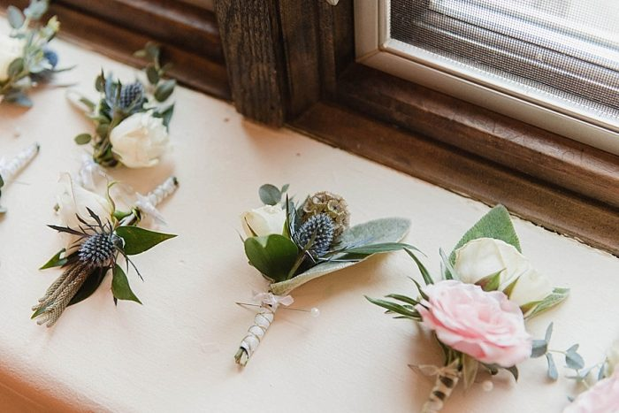 5 Boutonnieres Sunshower Photography Via MountainsideBride.com