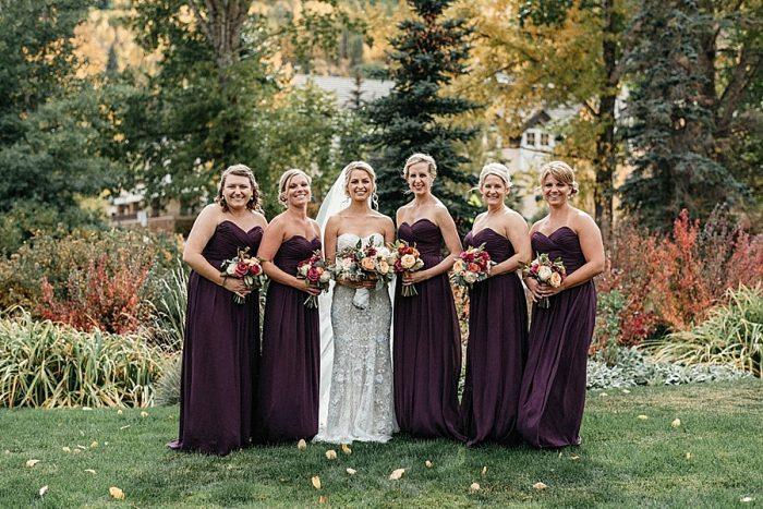 14 Bridesmaids Vail Autumn Wedding Eric Lundgren Photography Via MountainsideBride.com