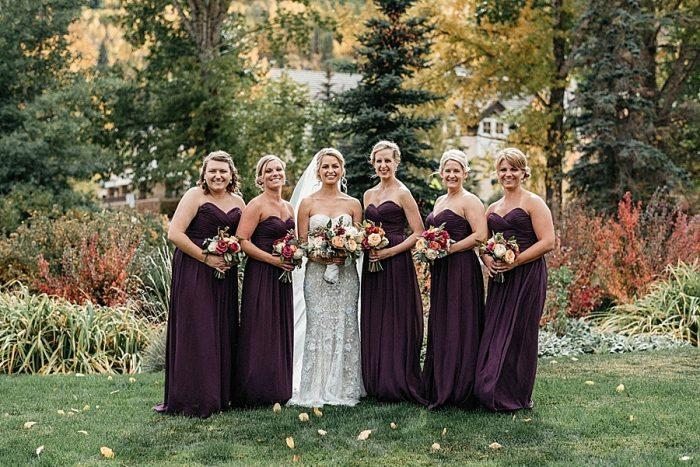 14 Bridesmaids Vail Autumn Wedding Eric Lundgren Photography Via MountainsideBride.com