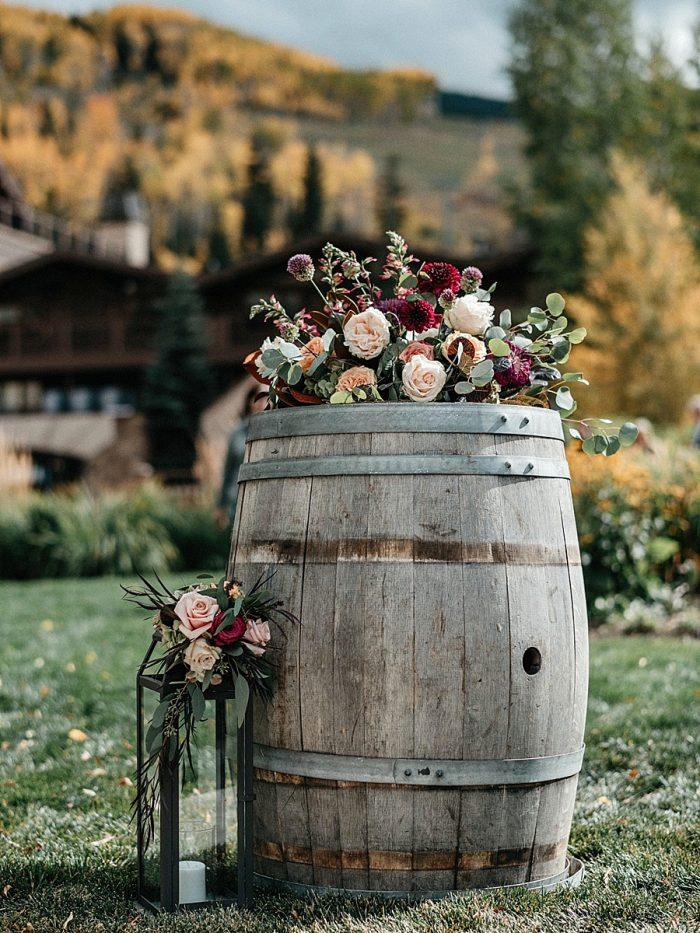 17 Ceremony Detail Vail Autumn Wedding Eric Lundgren Photography Via MountainsideBride.com