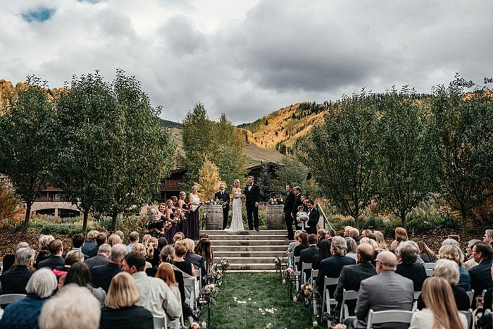 19 Ceremony Vail Autumn Wedding Eric Lundgren Photography Via MountainsideBride.com