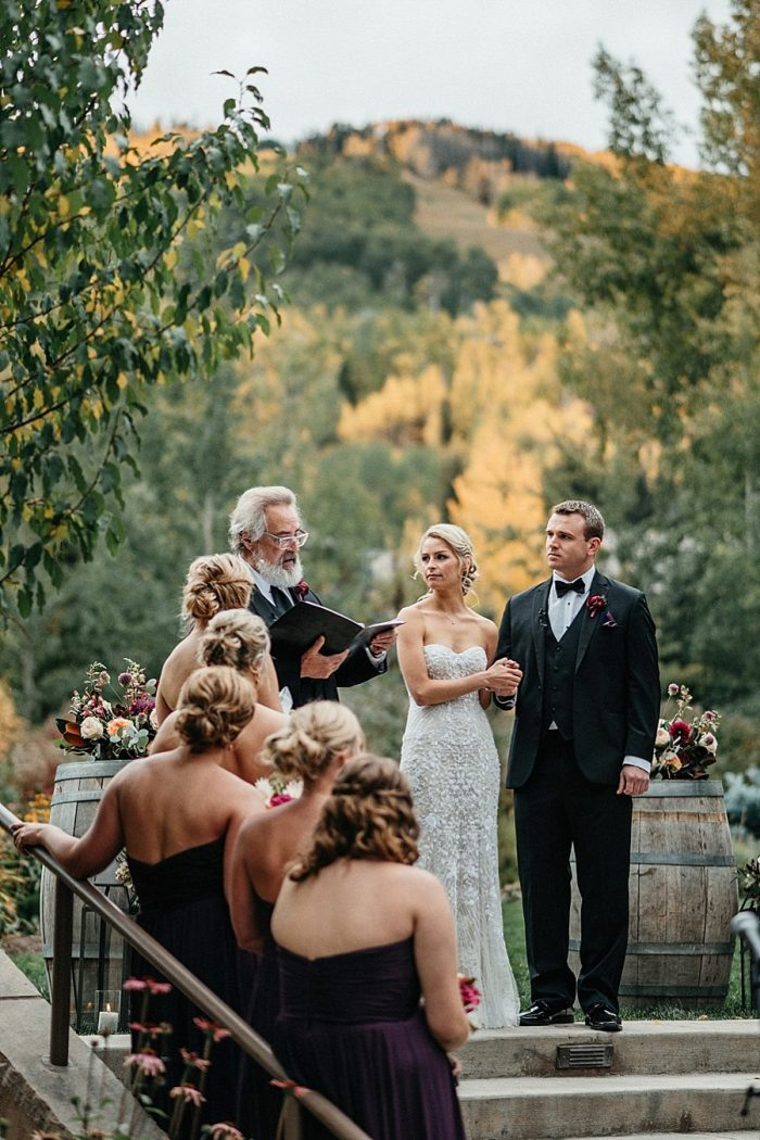 20 Ceremony Vail Autumn Wedding Eric Lundgren Photography Via MountainsideBride.com