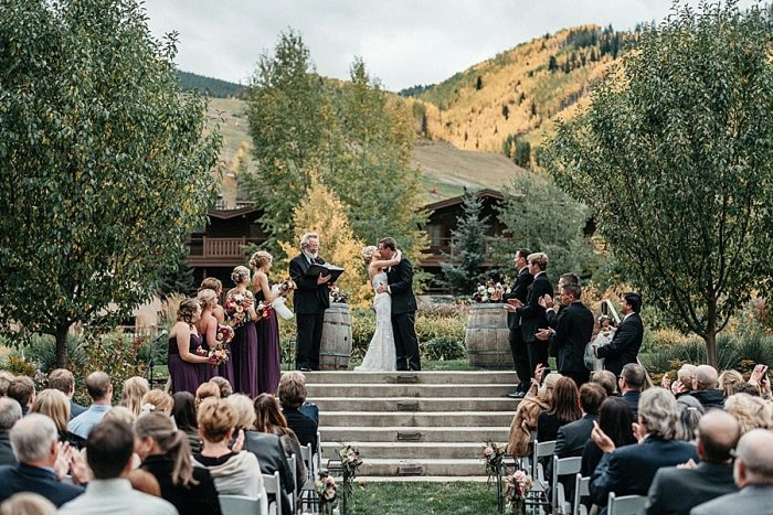 21 Ceremony Vail Autumn Wedding Eric Lundgren Photography Via MountainsideBride.com