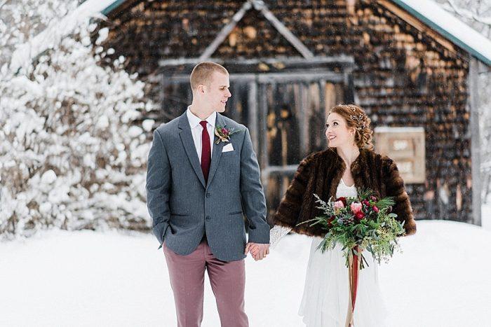 22 White Mountain New Hampshire Winter Wedding Inspiration Jesse Wyman Via MountainsideBride.com