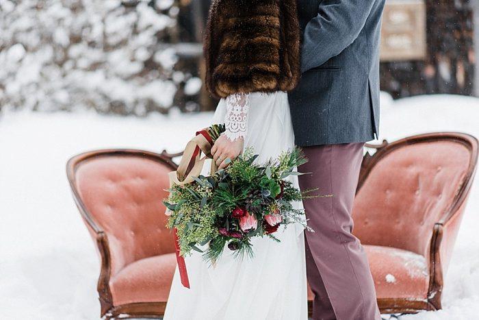 24 White Mountain New Hampshire Winter Wedding Inspiration Jesse Wyman Via MountainsideBride.com