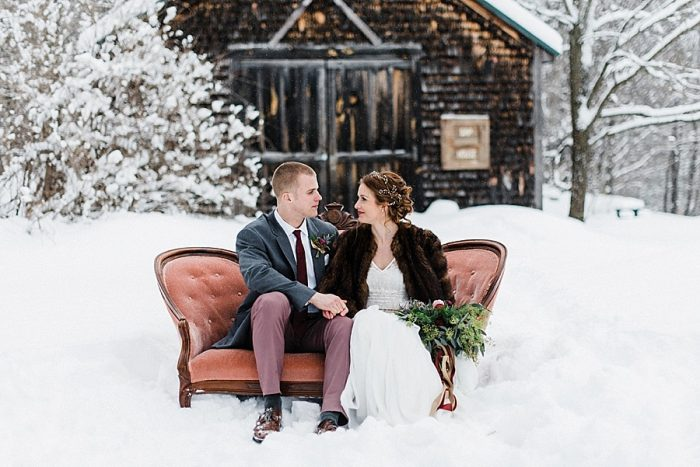 26 White Mountain New Hampshire Winter Wedding Inspiration Jesse Wyman Via MountainsideBride.com