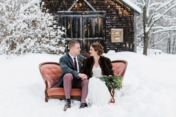 26 White Mountain New Hampshire Winter Wedding Inspiration Jesse Wyman Via MountainsideBride.com
