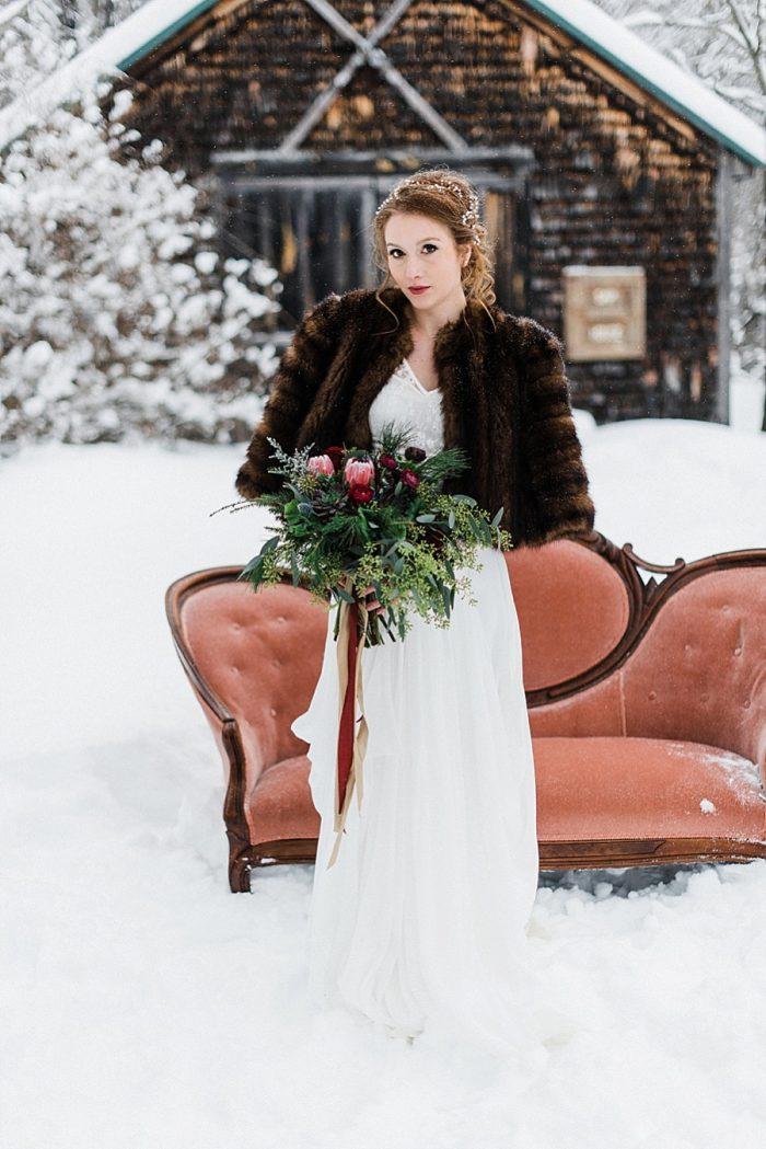 27 White Mountain New Hampshire Winter Wedding Inspiration Jesse Wyman Via MountainsideBride.com