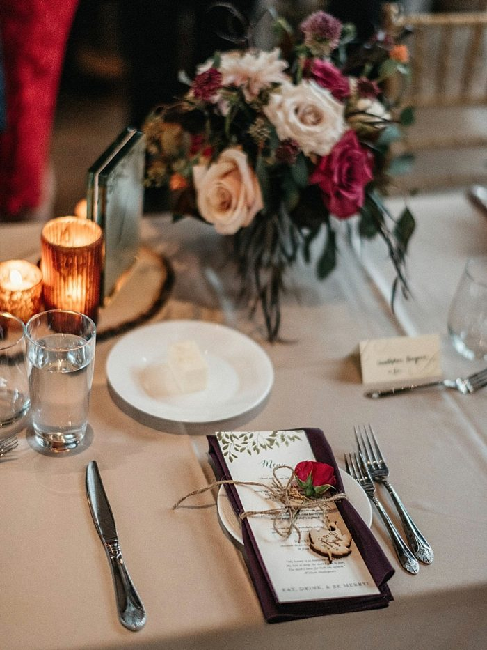 28 Table Setting Vail Autumn Wedding Eric Lundgren Photography Via MountainsideBride.com