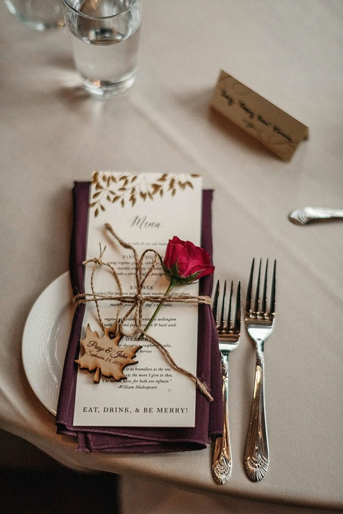 31 Table Setting Vail Autumn Wedding Eric Lundgren Photography Via MountainsideBride.com