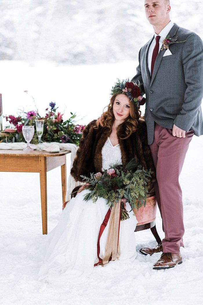 31 White Mountain New Hampshire Winter Wedding Inspiration Jesse Wyman Via MountainsideBride.com